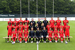 June 5, 2018 - Tubize, BELGIQUE - TUBIZE, BELGIUM - JUNE 5 : The National Soccer Team of Belgium posing for a team picture with the final selection prior to the 2018 FIFA World Cup Russia at the national training center with :.Top from left to right : Laurent Ciman , Toby Alderweireld , Leander Dendoncker , Romelu Lukaku , Inaki Vergara goalkeeping coach , Richard Evans , Erwin Lemmens goalkeeping coach , Jan Vertonghen defender , Thomas Meunier , Nacer Chadli .Middle from left to right : Dedryck Boyata , Michy Batshuayi , Marouane Fellaini , Axel Witsel , Thierry Henry ass. coach , Roberto Martinez, manager of the Belgium , Graeme Jones ass. coach , Vincent Kompany , Moussa Dembele , Thomas Vermaelen , Yannick Carrasco .Bottom from left to right : Adnan Januzaj , Youri Tielemans , Eden Hazard , Simon Mignolet , Thibaut Courtois , Koen Casteels  , Dries Mertens , Thorgan Hazard Kevin De Bruyne .on June 05, 2018 in Tubize, Belgium, 5/06/2018 (Credit Image: © Panoramic via ZUMA Press)