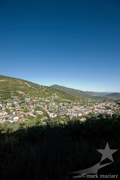 Old Town Park City overlook in summer