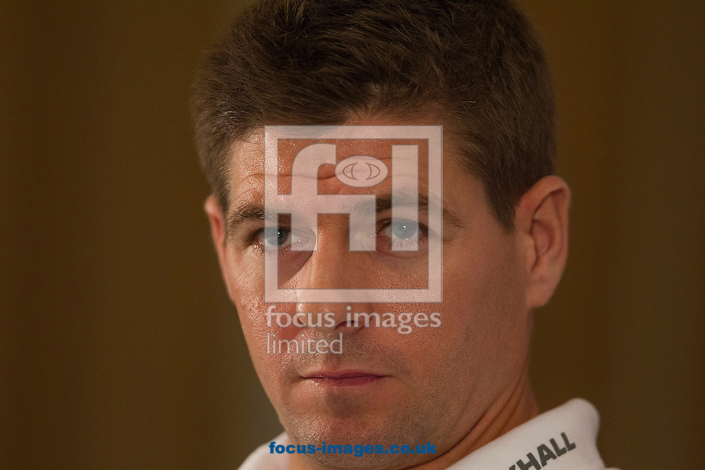 Picture by Paul Terry/Focus Images Ltd +44 7545 642257<br /> 18/11/2013<br /> Steven Gerrard talks during an England Press Conference at the Grove Hotel, Chandler's Cross.