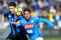 January 21, 2018 - Bergamo, Italy - Mattia Caldara of Atalanta and Dries Mertens of Napoli  during the Italian Serie A football match Atalanta Vs Napoli on January 21, 2018 at the 'Atleti Azzurri d'Italia Stadium' in Bergamo. (Credit Image: © Matteo Ciambelli/NurPhoto via ZUMA Press)
