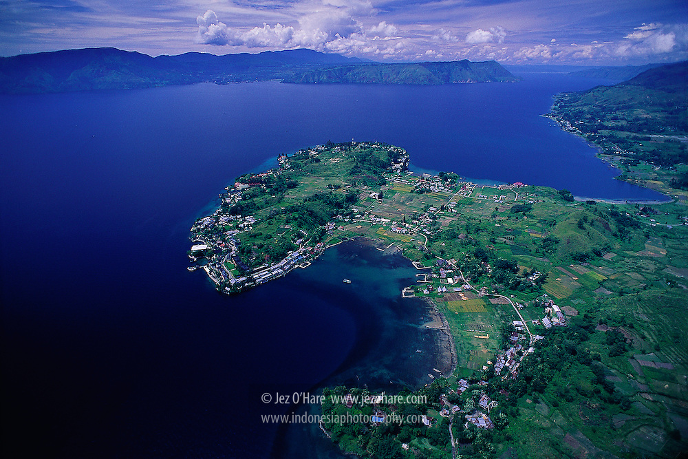 Tuk Tuk peninsula, Samosir Island, Lake Toba, North Sumatra, Indonesia.