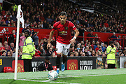 Manchester United's Andreas Pereira takes a corner kick during the EFL Cup match between Manchester United and Rochdale at Old Trafford, Manchester, England on 25 September 2019.