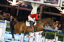 Augier De Moussac Emma, (CZE), Charly Brown, FEI President<br /> Logines Challenge Cup<br /> Furusiyya FEI Nations Cup Jumping Final - Barcelona 2015<br /> © Dirk Caremans<br /> 25/09/15