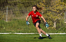 ALHAURÍN EL GRANDE, SPAIN - Monday, March 4, 2019: Wales' goalkeeper Olivia Clarke during a training session at the at Alhaurin Golf Resort in Spain. (Pic by David Rawcliffe/Propaganda)