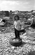 Rome   May 1999.Julian, romani Bosnian, in the Rom's camp  Casilino 700.