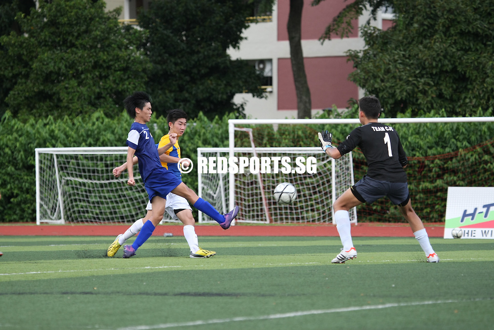 Victoria Junior College, Monday, April 29, 2013 &ndash; Anglo-Chinese Junior College (ACJC) beat Catholic Junior College (CJC) 2&ndash;0 for their opening Round 2 win in the National A Division Boys&rsquo; Football Championship.<br /> <br /> Story: http://www.redsports.sg/2013/05/02/a-div-football-acjc-cjc/