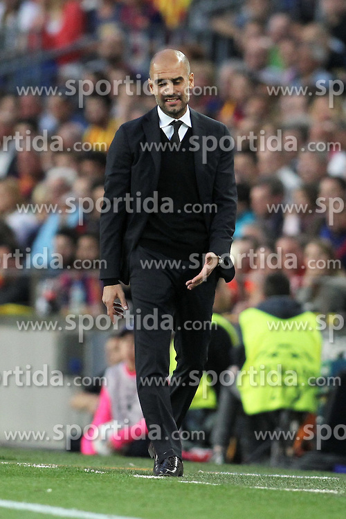 06.05.2015, Camp Nou, Barcelona, ESP, UEFA CL, FC Barcelona vs FC Bayern Muenchen, Halbfinale, Hinspiel, im Bild Trainer Pep Guardiola (FC Bayern Muenchen) // during the UEFA Champions League semi finals 1st Leg match between FC Barcelona and FC Bayern Munich at the Camp Nou in Barcelona, Spain on 2015/05/06. EXPA Pictures &copy; 2015, PhotoCredit: EXPA/ Eibner-Pressefoto/ Schueler<br /> <br /> *****ATTENTION - OUT of GER*****