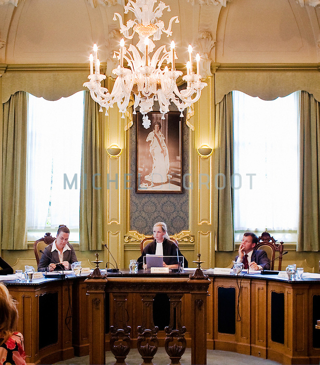 Een zitting van de Studentenrechtbank in de oude rechtzaal van de RuG op May 24, 2007 in Groningen, The Netherlands. (Photo by Michel de Groot)