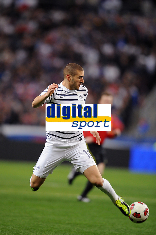 FOOTBALL - FRIENDLY GAME 2010/2011 - FRANCE v CROATIA - 29/03/2011 - PHOTO FRANCK FAUGERE / DPPI - KARIM BENZEMA (FRA)