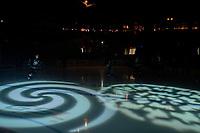 KELOWNA, CANADA - NOVEMBER 23: the Kelowna Rockets enter the ice against the Victoria Royals  on November 23, 2018 at Prospera Place in Kelowna, British Columbia, Canada.  (Photo by Marissa Baecker/Shoot the Breeze)
