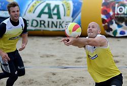 16-08-2014 NED: NK Beachvolleybal 2014, Scheveningen<br />  Marco Daalmeijer