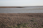 End point of Orford Ness shingle spit, Shingle Street, Suffolk, England