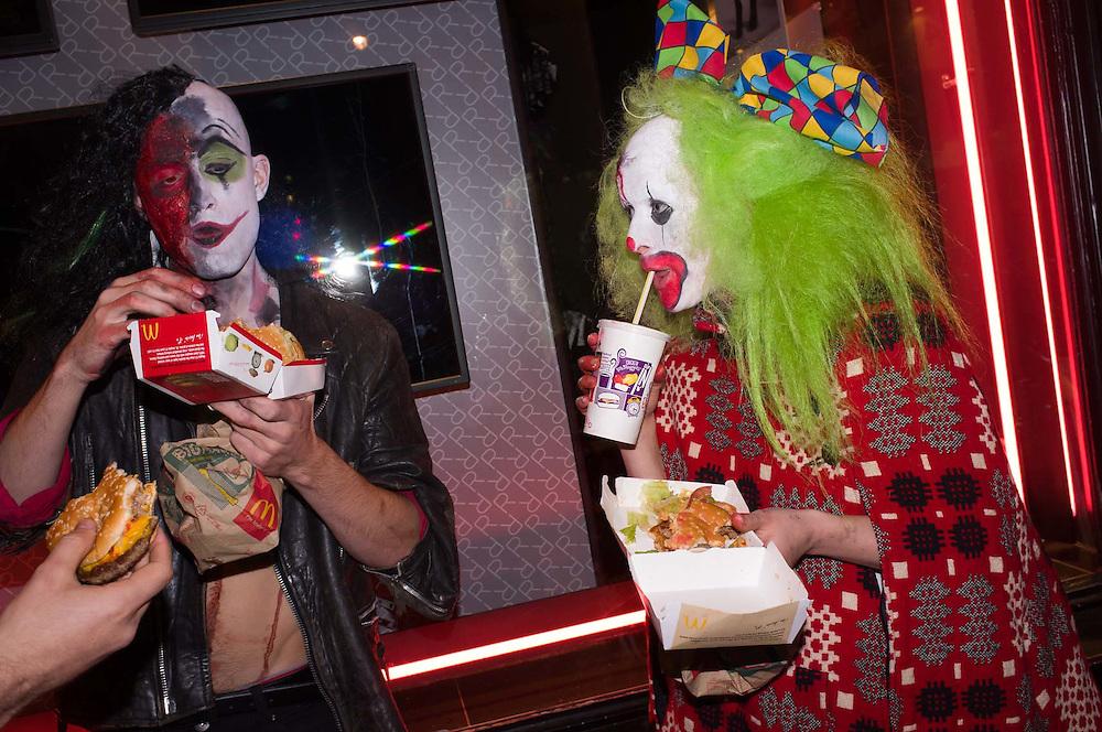 People celebrating, Halloween, London. Britain.