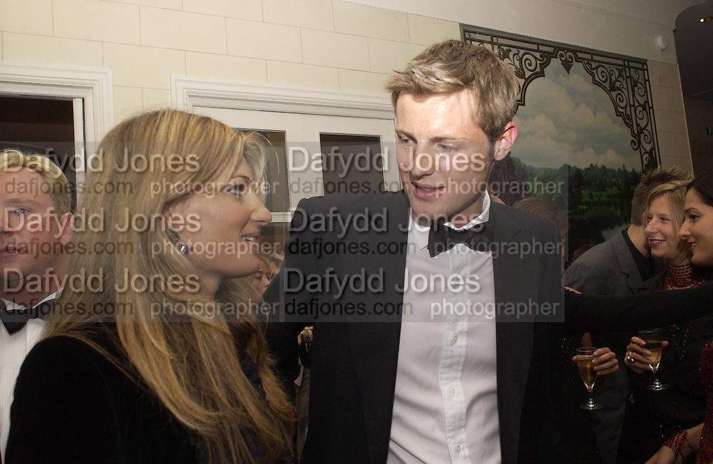 Jemima Khan and Zac goldsmith. Unicef Toy Soldiers Gala, Grosvenor House, London.  25 September 2001. © Copyright Photograph by Dafydd Jones 66 Stockwell Park Rd. London SW9 0DA Tel 020 7733 0108 www.dafjones.com