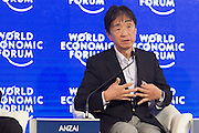Yuichiro Anzai at the World Economic Forum - Annual Meeting of the New Champions in Dalian, People's Republic of China 2015. Copyright by World Economic Forum / Greg Beadle