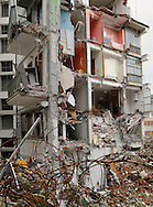One of the most seriously damaged building, where several people died because of the collapse.