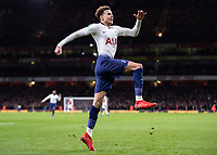 Football - 2018 / 2019 EFL Carabao Cup (League Cup) - Quarter-Final: Arsenal vs. Tottenham Hotspur<br /> <br /> Dele Alli (Tottenham FC)  leaps int the air after scoring his sides second goal at The Emirates.<br /> <br /> COLORSPORT/DANIEL BEARHAM