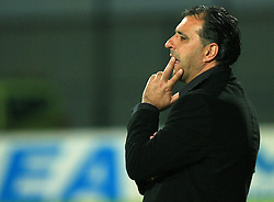 Coach Vlado Badzim at 30th Round of Slovenian First League football match between NK Domzale and NK Celje in Sports park Domzale, on April 25, 2009, in Domzale, Slovenia. (Photo by Vid Ponikvar / Sportida)