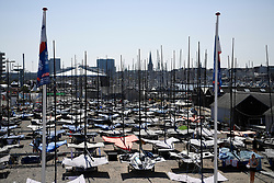 DK:<br /> 20180807, Århus, Danmark.<br /> Verdensmesterskabet i Sejlsport 2018 i Århus. <br /> Aarhus Internationale Sejlsportscenter<br /> Foto: Lars Møller<br /> UK: <br /> 20180807, Aarhus, Denmark.<br /> Sailing World Championships 2018, Aarhus, Denmark. <br /> Aarhus International Sailing Center<br /> Photo: Lars Moeller