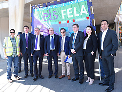 Members of the Scottish Parliament show their support for the EIS FELA members as they continue their strike action with a lobby outside of the Scottish Parliament over a cost of living pay rise. College Lecturers Strike Day Lobby of Parliament, The Scottish Parliament, Edinburgh,  Angie Isac | EEm Thursday 16 May 2019