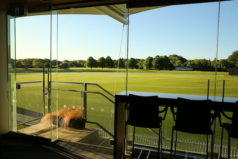 Hagley Cricket Pavilion and cricket grounds in Hagley Park, Christchurch, New Zealand,  Thursday, 05 November, 2015.  Credit: SNPA / Pam Carmichael