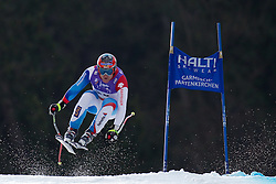 12.02.2011, Kandahar, Garmisch Partenkirchen, GER, FIS Alpin Ski WM 2011, GAP, Herren Abfahrt, im Bild Didier Cuche (SUI) takes to the air competing in the men's downhill race on the Kandahar race piste at the 2011 Alpine skiing World Championships, EXPA Pictures © 2010, PhotoCredit: EXPA/ M. Gunn
