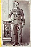 adult man posing in military uniform France 1900s