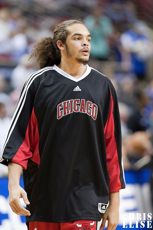 03 November 2008: Chicago Bulls center Joakim Noah is seen prior to the Orlando Magic victory 96-93 over the Chicago Bulls at the United Center, in Chicago, Illinois, USA.