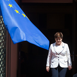 June 19, 2017 - Warsaw, Poland - Prime Minister of Poland Beata Szydlo during the Meeting of Heads of Government of Visegrad Group countries and Benelux countries in Warsaw, Poland on 19 June 2017  (Credit Image: © Mateusz Wlodarczyk/NurPhoto via ZUMA Press)