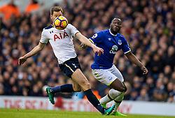 LONDON, ENGLAND - Sunday, March 5, 2017: Everton's Romelu Lukaku in action against Tottenham Hotspur's Jan Vertonghen during the FA Premier League match at White Hart Lane. (Pic by David Rawcliffe/Propaganda)