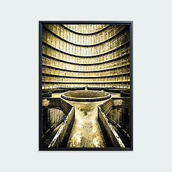 Abandonned Power Plant, Charleroi • Original photographic work by Antoine Duhamel • Direct print on brushed brass.