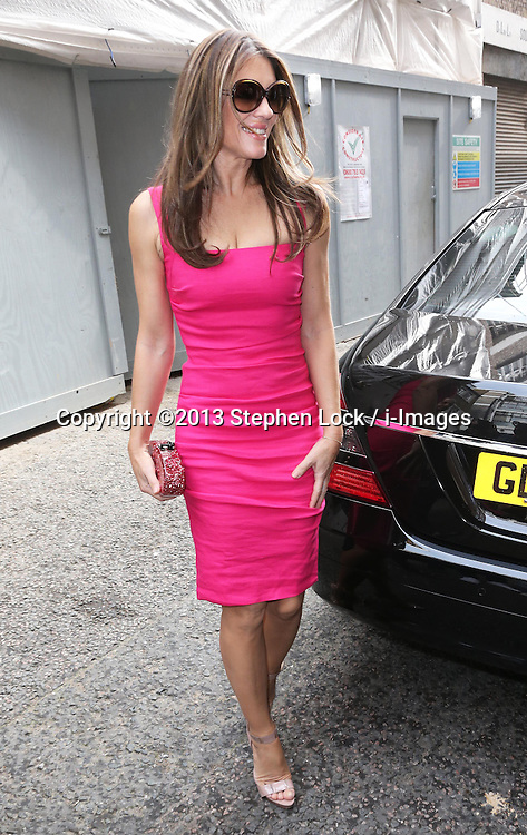 Elizabeth Hurley arriving at an Estee Lauder  breast cancer awareness  event in London, Wednesday, 25th September 2013. Picture by Stephen Lock / i-Images