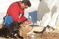 Photographs of John Baker's 2011 Iditarod run. Kaltag checkpoint. Stephen Nowers/Alaska Dispatch.
