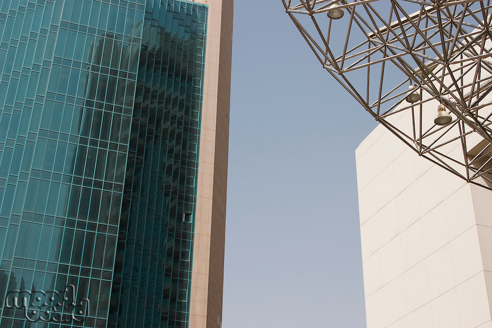Dubai, UAE, Architectural detail of the buildings in Deira.