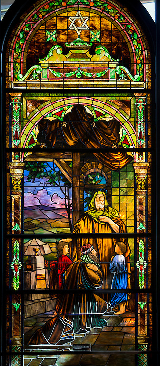 10/1/14 10:30:31 AM -- Stained glass windows at the Sherwin Miller Museum of Jewish Art in Tulsa, Oklahoma. <br /> <br /> Photo by Shane Bevel