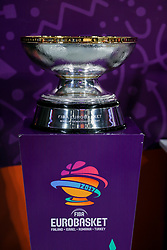 Trophy during the Final basketball match between National Teams  Slovenia and Serbia at Day 18 of the FIBA EuroBasket 2017 at Sinan Erdem Dome in Istanbul, Turkey on September 17, 2017. Photo by Vid Ponikvar / Sportida
