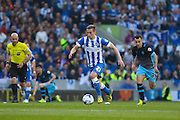 Brighton striker (on loan from Manchester United), James Wilson (21) during the Sky Bet Championship play-off second leg match between Brighton and Hove Albion and Sheffield Wednesday at the American Express Community Stadium, Brighton and Hove, England on 16 May 2016. Photo by Phil Duncan.