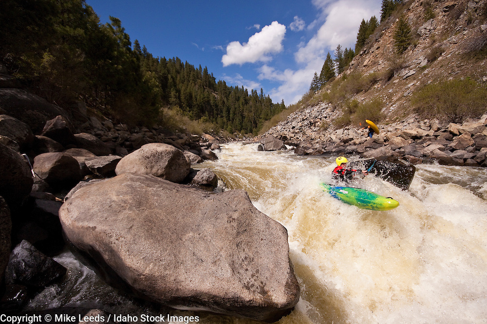 Micah Kneidl in Jacob's Ladder on the North Fork Payette River in Idaho.