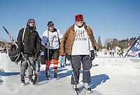 New England Pond Hockey Classic on Meredith BaySunday, February 1, 2015.  Karen Bobotas for the Laconia Daily Sun