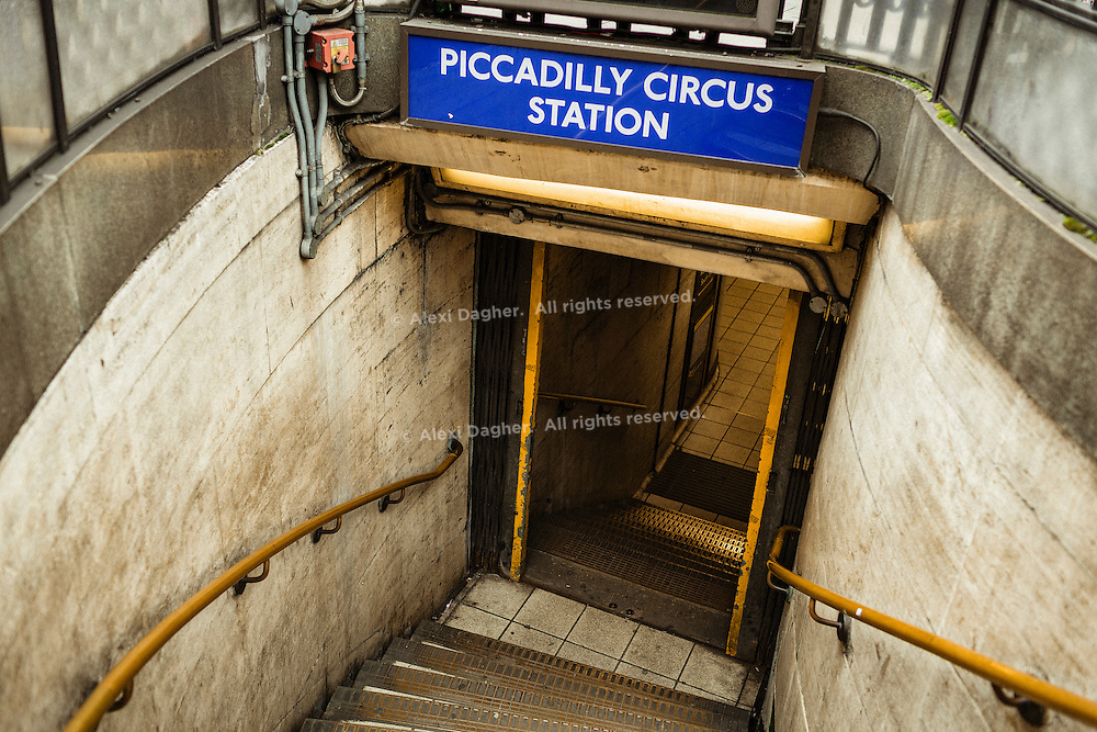 Stairs Leading To The Piccadilly Circus Station - London, England, 2016