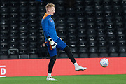 Cameron Dawson (25) warms up before the EFL Sky Bet Championship match between Derby County and Sheffield Wednesday at the Pride Park, Derby, England on 11 December 2019.
