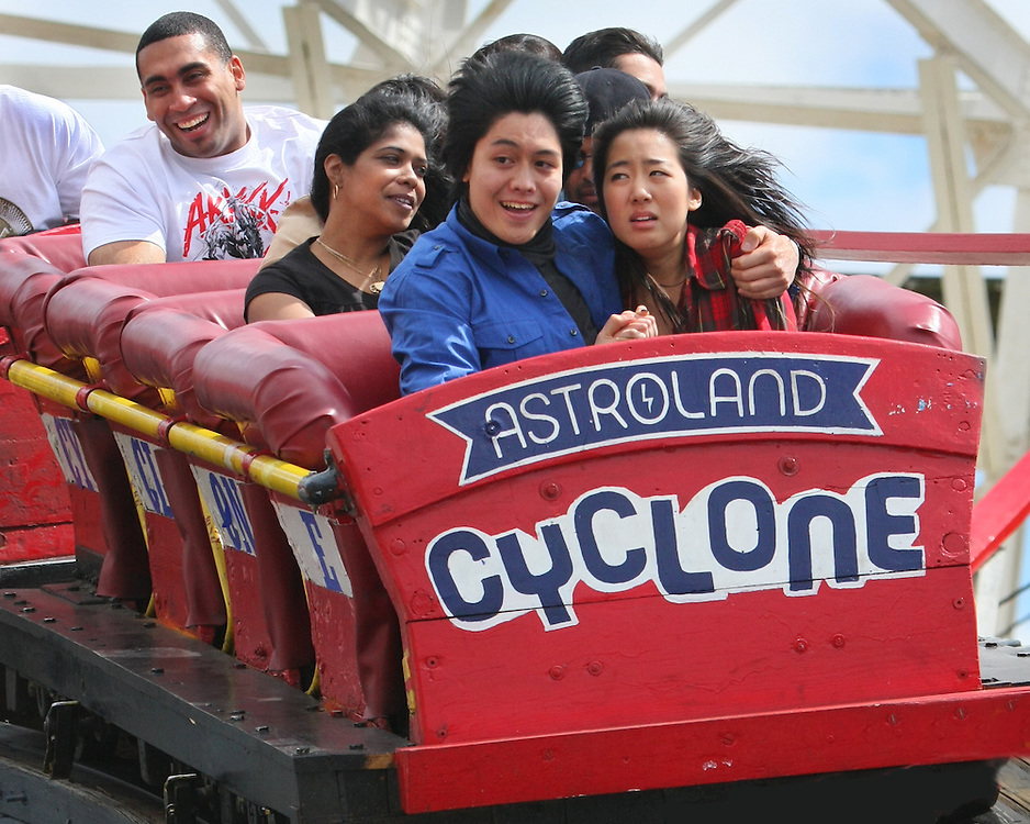 Ninety Seconds of Terror. Coney Island, Brooklyn's Cyclone roller coaster.