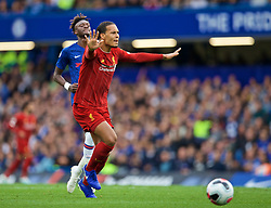 LONDON, ENGLAND - Sunday, September 22, 2019: Liverpool's Virgil van Dijk during the FA Premier League match between Chelsea FC and Liverpool FC at Stamford Bridge. (Pic by David Rawcliffe/Propaganda)