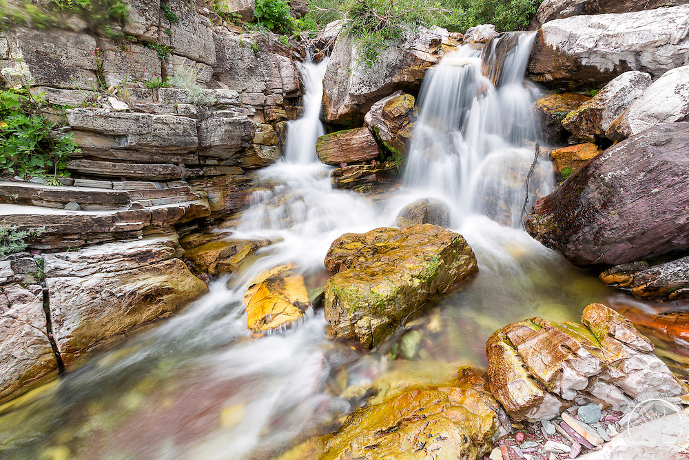 Lower Apikuni Falls, in the central section of Many Glaciers, Glacier National Park, Montana