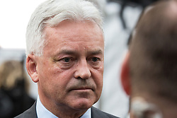 London, UK. 15th November, 2018. Sir Alan Duncan, Minister of State for Europe and the Americas, appears on College Green in Westminster following the Cabinet resignations of Brexit Secretary Dominic Raab and Work and Pensions Secretary Esther McVey the day after Prime Minister gained Cabinet approval of a draft of the final Brexit agreement