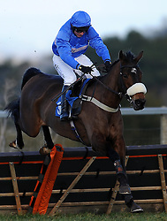 Tornado in Milan ridden by Paul Maloney during the Bathwick Tyres Handicap Hurdle (Class 2) (4YO plus) - Photo mandatory by-line: Harry Trump/JMP - Mobile: 07966 386802 - 17/02/15 - SPORT - Equestrian - Horse Racing - Taunton Racecourse, Somerset, England.