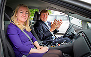 King WILLEM ALEXANDER  with Minister Schultz van Haegen of Infrastructure and