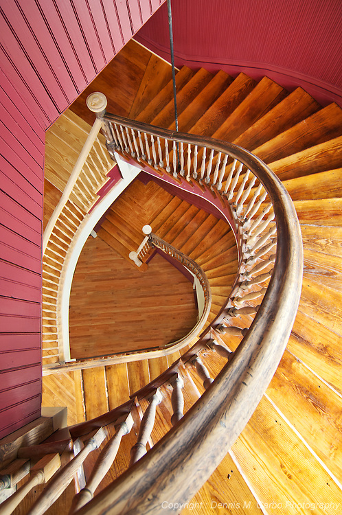 Deep River, CT Town Hall Rear Staircase Prior to 2013 Renovation