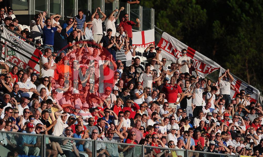 England fans cheer the goal from Wayne Rooney of England (Manchester United)  - Mandatory byline: Joe Meredith/JMP - 07966386802 - 05/09/2015 - FOOTBALL- INTERNATIONAL - San Marino Stadium - Serravalle - San Marino v England - UEFA EURO Qualifers Group Stage
