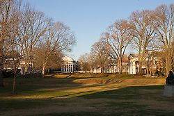 The Lawn and Rotunda on the Grounds of the University of Virginia, Charlottesville, VA - November 27, 2007.